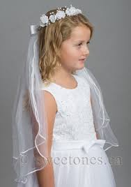 1st communion veils flower rhinestone tiara with 24 communion veil communion