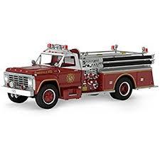 Fire Trucks Decorated For Christmas Amazon Com Kurt Adler 4 5 Firefighter Uniform Christmas Ornament