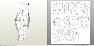 papercraft pdo file template for batman arkham knight full armor