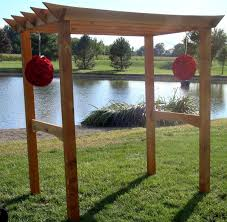 wedding arbor kits crafted customizable wooden arbor kit by fast by
