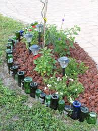 plastic garden edging ideas brick bottle border gardening ideas pinterest bottle gardens and