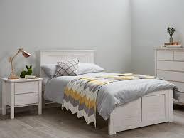 Bedroom Furniture White Washed Bedroom 1 Kids King Single Bedroom Suite Modern Whitewash