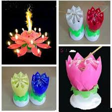 birthday candle flower colorful magical lotus flower musical birthday candle party