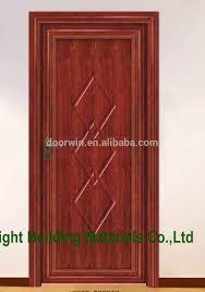 new design interior solid wooden single door designs manufacturer