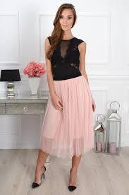 spodnica tiulowa spódnica tiulowa midi na gumie pudrowy róż cocomoda pl od