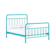 Single Beds Metal Frame Size Metal Bed Frame In Blue Buy Bed Frame