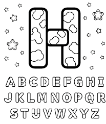 coloring pages with letter h perfect letter h coloring sheet 6 3571