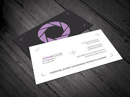 Minimal Design Business Cards Minimal Photography Business Card Vector Download