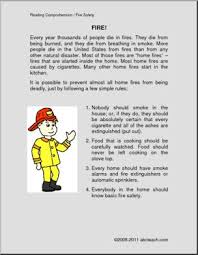 fire safety reading comprehension informational elementary