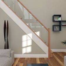 Stairway Banister Ideas Reflections Glass And Oak Balustrade Refurbishment Kit Staircase