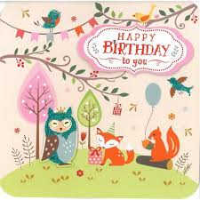 woodland owl birthday card british heart foundation
