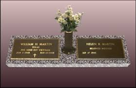 Flat Grave Markers With Vase Companion Configured Matching Veteran Marker 24