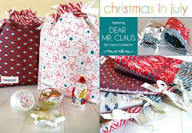 drawstring gift bags christmas in july with moda drawstring gift bags in dear mr
