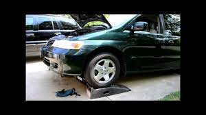 honda odyssey transmission fluid change youtube