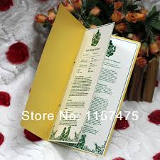 cheap printed wedding programs hi9003 customized wedding programs order of service with ribbon in