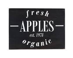 Kitchen Apples Home Decor Fresh Apple Sign Etsy