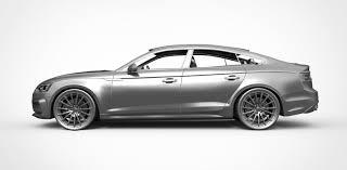 audi 2017 3d model audi a5 sportback 2017 cgtrader
