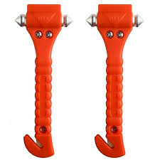 Seat Belt Cutter Window Punch - 2pcs auto car safety emergency hammer escape tool survival kit