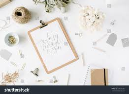 Office Desk Top View Flat Lay Top View Office Table Stock Photo 520639282 Shutterstock
