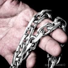 titanium chain link necklace images Link necklace x 15mm jpg