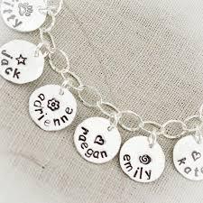 silver name charm necklace images Name charm bracelet with sterling silver bracelet jpg