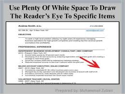 resume white space how to write a successful resume by muhammad zubair