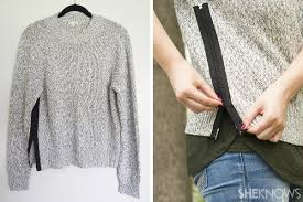 diy sweater fashion diy how to spruce up a plain sweater