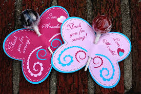 lollipop party favors personalized pink blue butterfly lollipop party favors