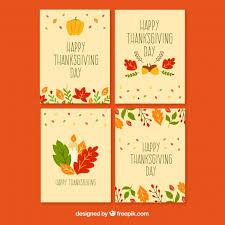 hermosas tarjetas de thanksgiving descargar vectores gratis