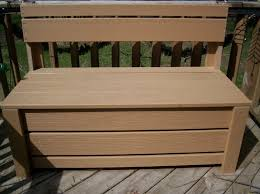 Simple Wooden Bench Design Plans by Furniture Distinctive Outdoor Storage Bench Box With Cushions