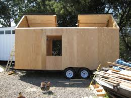 tiny house kits on wheels still in progress just walls without a