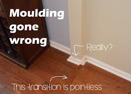 Hardwood Floor Molding Base Moulding What Not To Do
