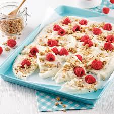 glacer cuisine barres de yogourt glacé aux framboises recettes cuisine et