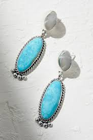 turquoise drop earrings sterling turquoise drop earrings free