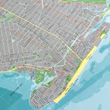 Street Map Of New York City by New York City Street Map Version 2 Paper The Future Mapping