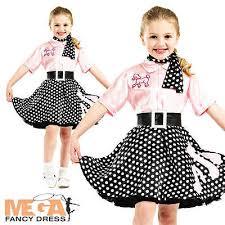 50s rock n roll girls fancy dress 1950s jazz bopper kids childs