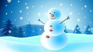 snowman christmas card wallpaper freechristmaswallpapers net