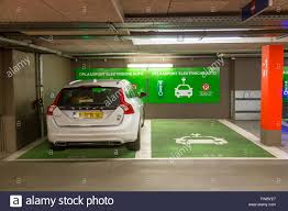 electric vehicles charging stations charging station for electric cars in a public parking garage