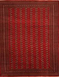 Pakistan Bokhara Rugs For Sale Pakistani Bokhara Red Rectangle 9x12 Ft Wool Carpet 21425