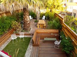 homey small backyard landscaping with wooden tones ruchi designs