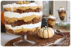 pumpkin gingerbread trifles thanksgiving