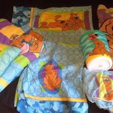 scooby dooby doo twin size bedding wastebasket