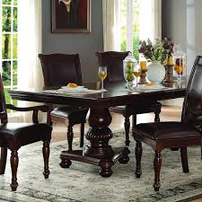 homelegance lordsburg 7 piece double pedestal dining room set in
