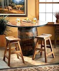 whiskey barrel bar table barrel table and chairs whiskey furniture whiskey barrel furniture