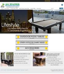 Outdoor Pool Tables by Pool Tables For Indoor Outdoor Use By All Weather Billiards And Gaming