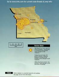 Columbia Missouri Map Nuclear War Fallout Shelter Survival Info For Missouri With Fema
