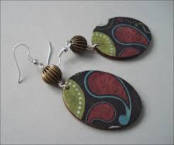 decoupage earrings decoupage earrings 2 by ievaks on deviantart
