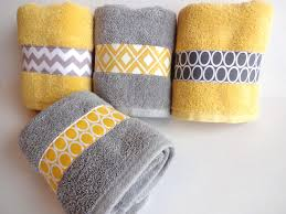 Towel Decoration For Bathroom by Yellow And Grey Bath Towels Yellow And Grey Yellow And Gray