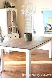 white dining room table dining table white legs wooden top with inspiration design 29242