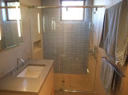 bathroom design and decoration using light blue glass tile